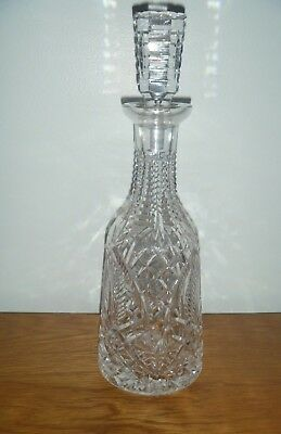 """WATERFORD  CRYSTAL DECANTER w/STOPPER~13""""~BEAUTIFUL"""