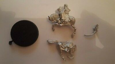 Warhammer Lord Of The Rings.  Arwen And Frodo On Horse. Metal.
