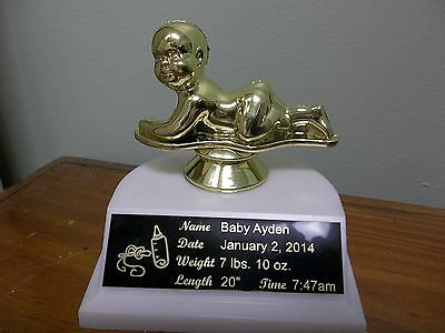 baby gift personalized, trophy, announcement, grandparents gift, with engraving