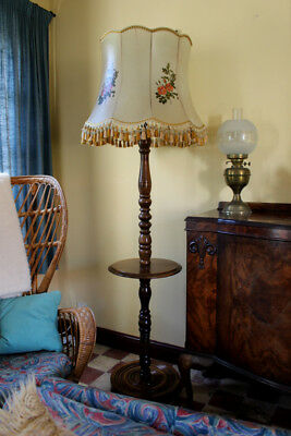Rare Antique Vintage French Standard/Floor Lamp with shade