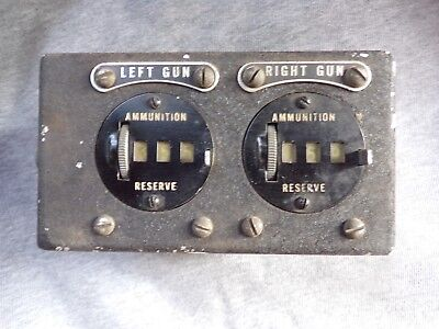 U.S. Army Air Force ammunition counter-left gun, right gun