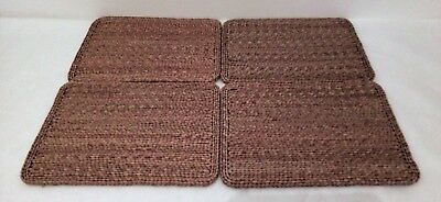 Set Of 4 Vintage Woven Placemats Country Kitchen Wicker/rattan/woven/straw Style