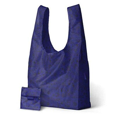 Genuine Standard Baggu Reusable Foldable Shopping Bag Grocery Beach Blue Static