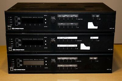 CRESTRON MPS-100 Multimedia Presentation System control switcher   ( Lot of 3 )