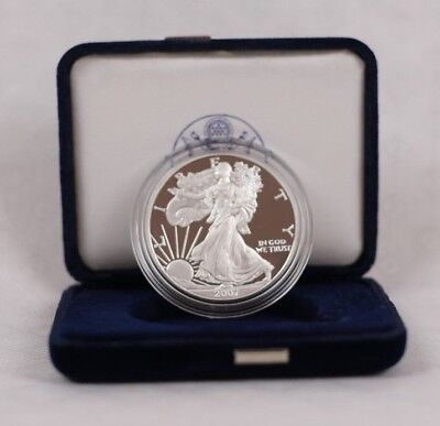 US Mint 2007 W American Eagle Silver Proof Coin 1 Ounce with COA and Box