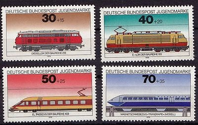 Germany**LOCOMOTIVES-MAGNETIC TRAIN-DIESEL-ELECTRIC-4v-1978-RAILWAYS-MNH