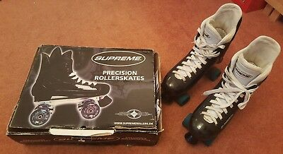 Supreme Turbo 33 roller quad skates size 9 10 11 UK (43 - 46 EUR) boxed Bauer