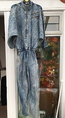 Stonewashed Denim Vintage Boiler Cat Jump Suit by Ginger Bort PG Collections 12