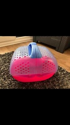 Pink / Blue Plastic Small Pet Carrier Perfect For Guinea Pig Or Hamster