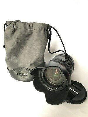 Canon 24-105mm F4 L Series IS USM lens and soft case