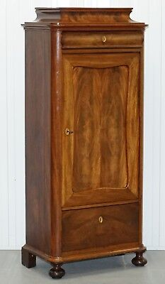 Lovely Walnut Drinks Cabinet With Drawers And Built In Glass Holder Great Find