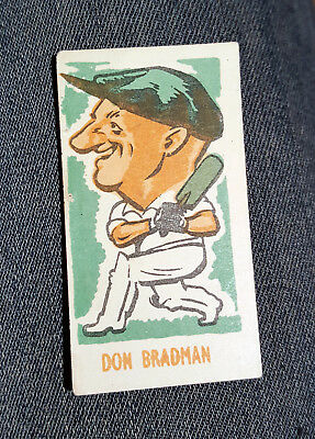 Don Bradman Caricature Sweet Cigarette Card Kiddys Favourite Popular Cricketers