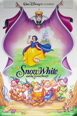 SNOW WHITE RE-RELEASE ORIGINAL MOVIE POSTER 41x27 ROLLED DOUBLE SIDED