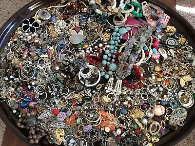 Large Lot of  Of Jewelry For Wear Or Resale  7 + Lbs #  7
