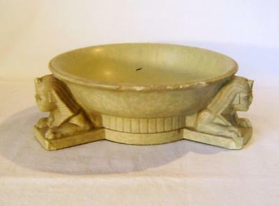 Vintage Egyptian Stone Bowl with Sphinx Headed Supports :Heavy:  Damaged
