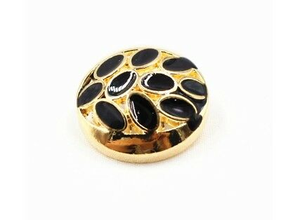 set 8 Gold metal buttons Black Oil Classic fashion Costume Craft Art buttons 23m