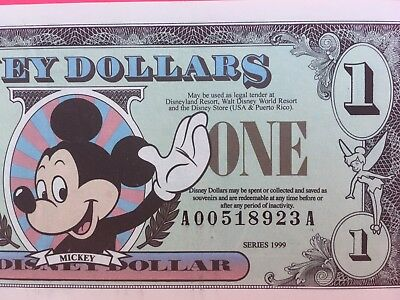 1999 $1 Disney Dollars Mickey Series A