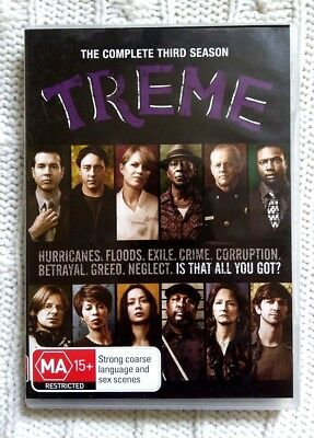 Treme – Season 3 - Dvd, 4-Disc Set  - R-4, Like New, Free Post In Australia