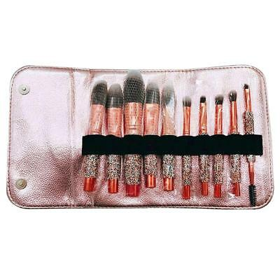 10PCS Pro Makeup Brushes Glitter Foundation Powder Eyeshadow Brush With Bag