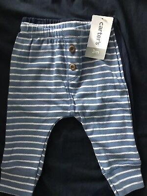 Carters 2 Pack Boys Pants 3 Months New