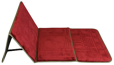 Muslim prayer rug mat carpet folding with back support seat Red iseat