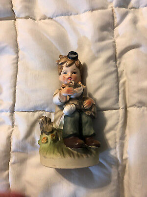 Vintage Japan Napcoware Fine Porcelain Little Boy Vet Doctor Dog Figure