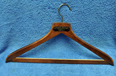 Vintage Wooden Advertising Coat Hanger Richard Gelding London