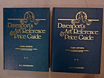 Davenport's Art Reference & Price Guide - 2 Volumes - 150,000 Artists