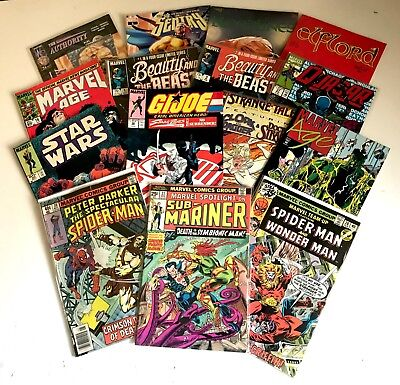 HUGE Marvel Bronze Age 15 Comic LOT Sub-Mariner Spider-Man Star Wars & More!