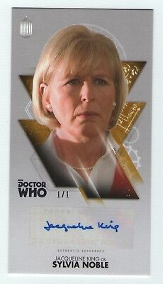 Doctor Who 10th Widevision Jacqueline King auto card - Gold version 1/1