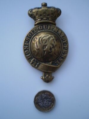 British Army Victorian Martindale Brass Horse Furniture Badge