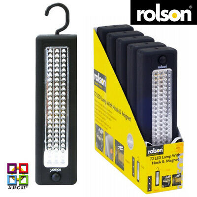 Rolson ® 72 LED Magnetic Camping Lamp Light With Hook 15000 MCD