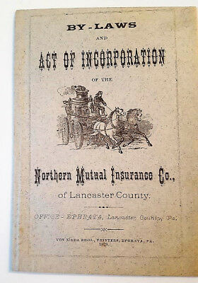 Charter By-Laws and Act of Incorporation of Northern Mutual Insurance Co.1879