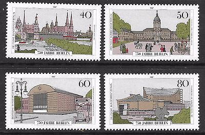 GERMANY/BERLIN 1989 750th ANNIV OF BERLIN STAMPS FROM SG M/S761 MNH & USED SET 4