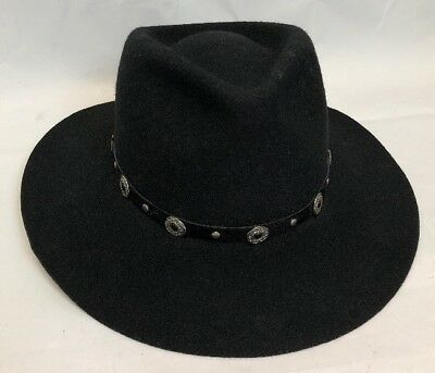 cae09577eae51 Western Express Black Cowboy hat with band Felt Size 7 Unisex Made In USA
