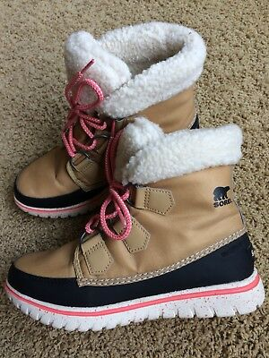 59e00c8116af Sorel Women s Cozy Carnival Boots Size 5 Waterproof Curry Black Pink NL  2297-373