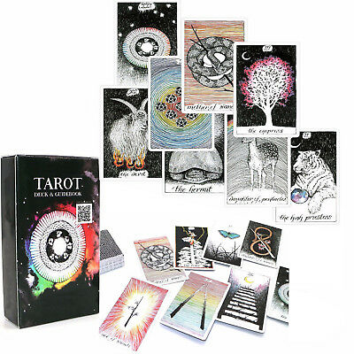 78pcs Wild Unknown Tarot Deck Rider-WaiteOracle Set Fortune Telling Cards