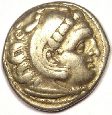 Alexander the Great III AR Drachm Coin 336 BC - VF Condition - Rare!