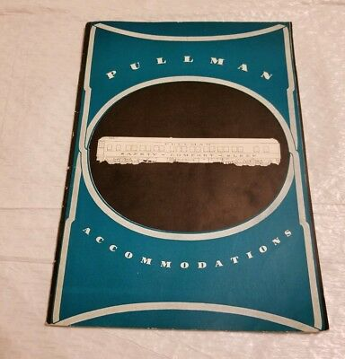 Pullman Accommodations Brochure with Advertising Letter