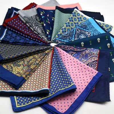 New Stain Man's Handkerchief Multi-Color Pocket Square Floral Polka Dots Dressd