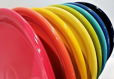 Fiesta Fiestaware Dinnerware, New 2nds, Lot of 8 Bistro Dinner Plates, Mixed Set