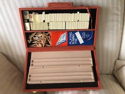 Vintage Pressman Tournament Rummikub Tiles Game Carry Case & Instructions Rummy