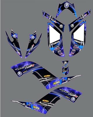 Raptor 700R Graphics kit Yamaha 700 Kit 2006 2007 2008 2009 2010 2011 2012 decal