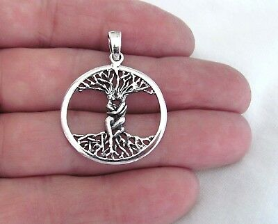 Sterling Silver 32mm man and woman tree of life pendant