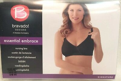94c805264c NWT~34B C~Bravado Designs THE ESSENTIAL EMBRACE NURSING BRA Black Purple