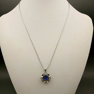 Chinese Handmade Exquisite Rotation Mode Fashion blue Necklace & Pendant