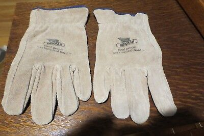 Vintage NOS Dekalb  Leather Seed Corn XL Advertising Work Gloves AG