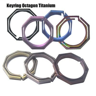 Titanium Alloy Hanging Buckle Key Ring Tool Octagonal hanging multiple color HOT