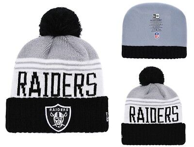 8d77dbf5bddad3 ... gray black team pride cuffed knit hat with pom 0d702 75c34; low price  2018 oakland raiders new era nfl knit hat on field sideline beanie hat a88af