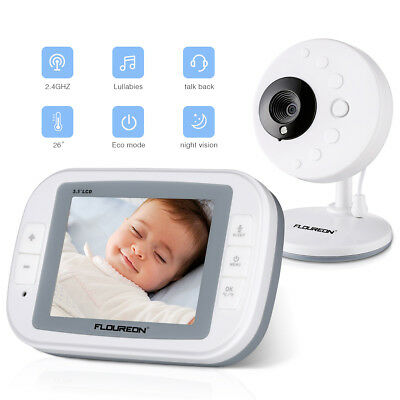 """3.5"""" LCD Digital Wireless Baby Monitor Video Audio Night Vision Security Camera"""